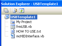 USB HID Template for Visual Basic - HelmPCB